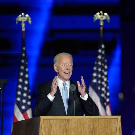 President-Elect Joe Biden of the United State Addresses The Nation