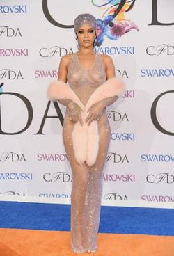 Rihanna in Adam Selman