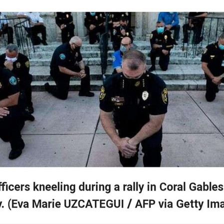 Police, Protesters Pray Together Amid George Floyd Unrest.