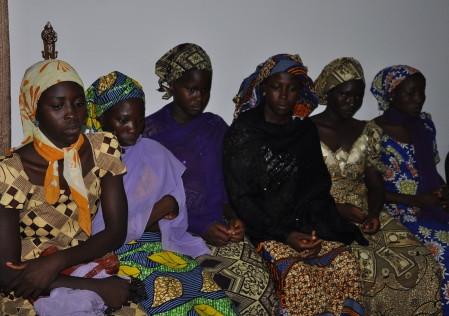 Escaped Chibok Girls Visit Borno State Governor
