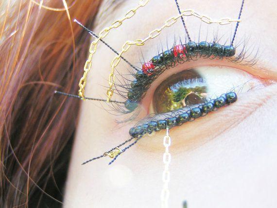 Black Window Eyelash Jewelry Spider False