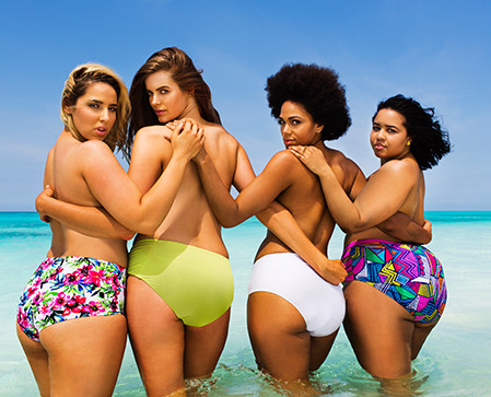 Plus-Size Models Recreate Sports Illustrated Swimsuit Cover to Redefine Curve