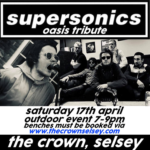 Supersonics - Oasis Tribute Bench