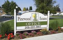 Pinewood Estates office sign