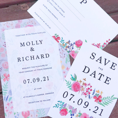 Watercolour florals for Molly & Richard