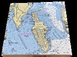 "City Island Marble Chart Trivet 8""Square"
