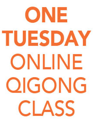 ONE Tuesday Online Qigong Class 1pm-2-pm EDT