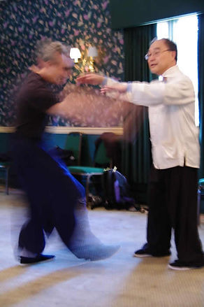 217-2 Master Ting demonstrates push hand