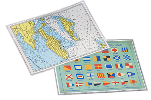 City Island Map and Flag Placemat