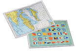 """Laminated Placemat-Chart/Signal Flags – 11"""" x 17"""""""