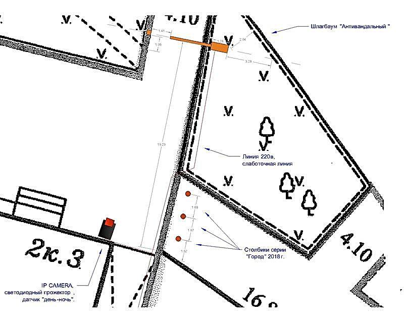 чертеж паркинг шлагбаум восточная москва