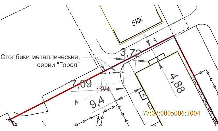 Проект шлагбаум парковк столбики автокад москва