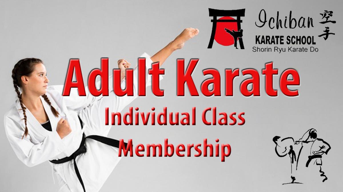 Adult Karate Individual Class Membership