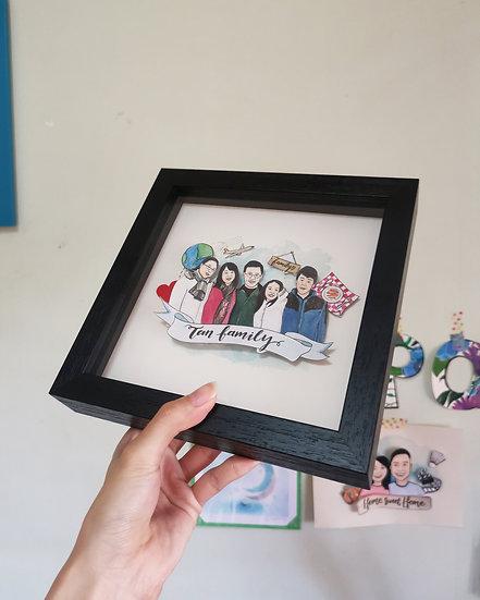 Family/Group Pop-up Portrait Frame
