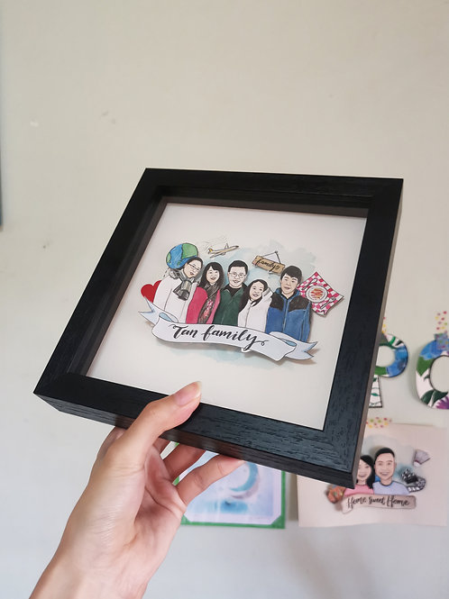 Family/Group Pop-up Portrait Frame