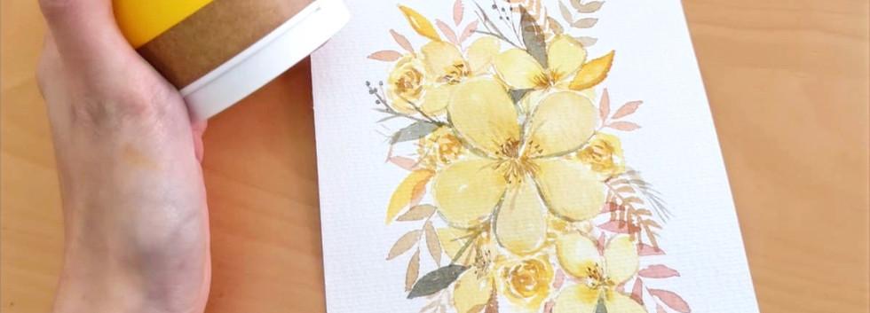 Yellow monochrome motif final design!