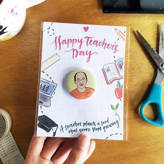 Portrait Pins (Teacher's Day Edition)