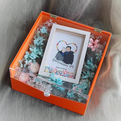 Love All Around Couple Portrait Floral Box