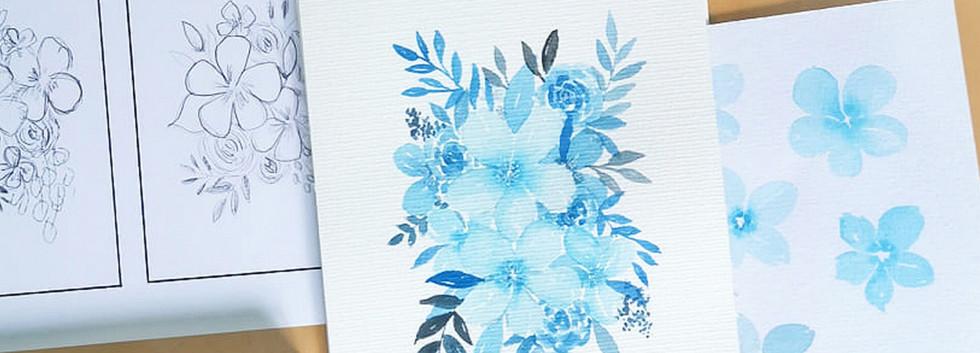 Watercolor Floral Workshop Fun