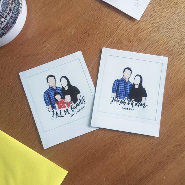 Family Portrait Polaroid Film Illustration