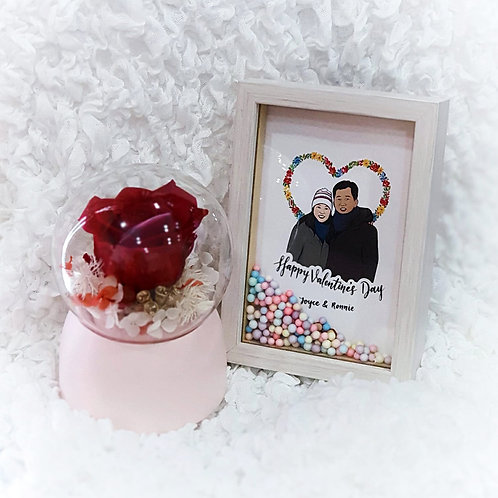 Everlasting Musical Box with Couple Portrait Gift Set