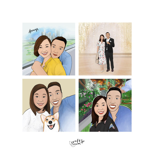 Couple Collage Frame
