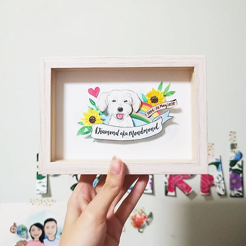 Pet Memorial Pop-up Frame
