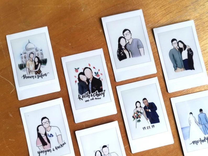 Collection of our favourite portrait polaroid film pieces