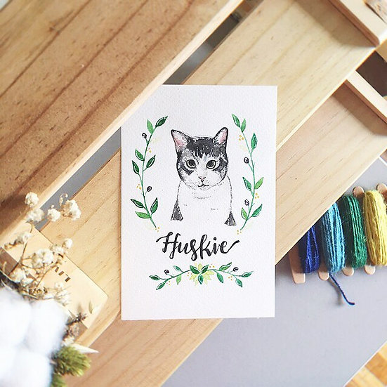 Watercolor Pet Illustration