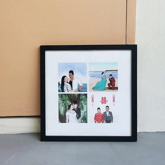 Portrait Collage Square Frame
