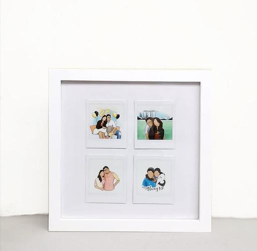 Polaroid Vintage Collage Frame
