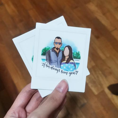 Couple Portrait Polaroid Film