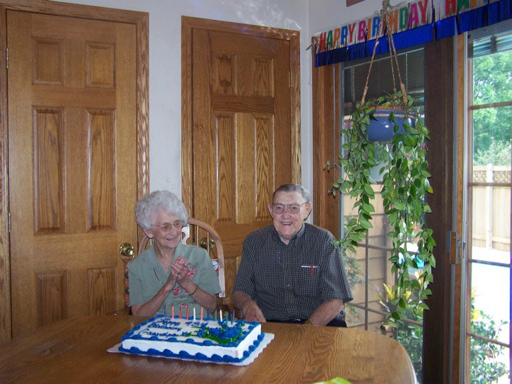Grandpa Great and Juanita on his 94th Birthday