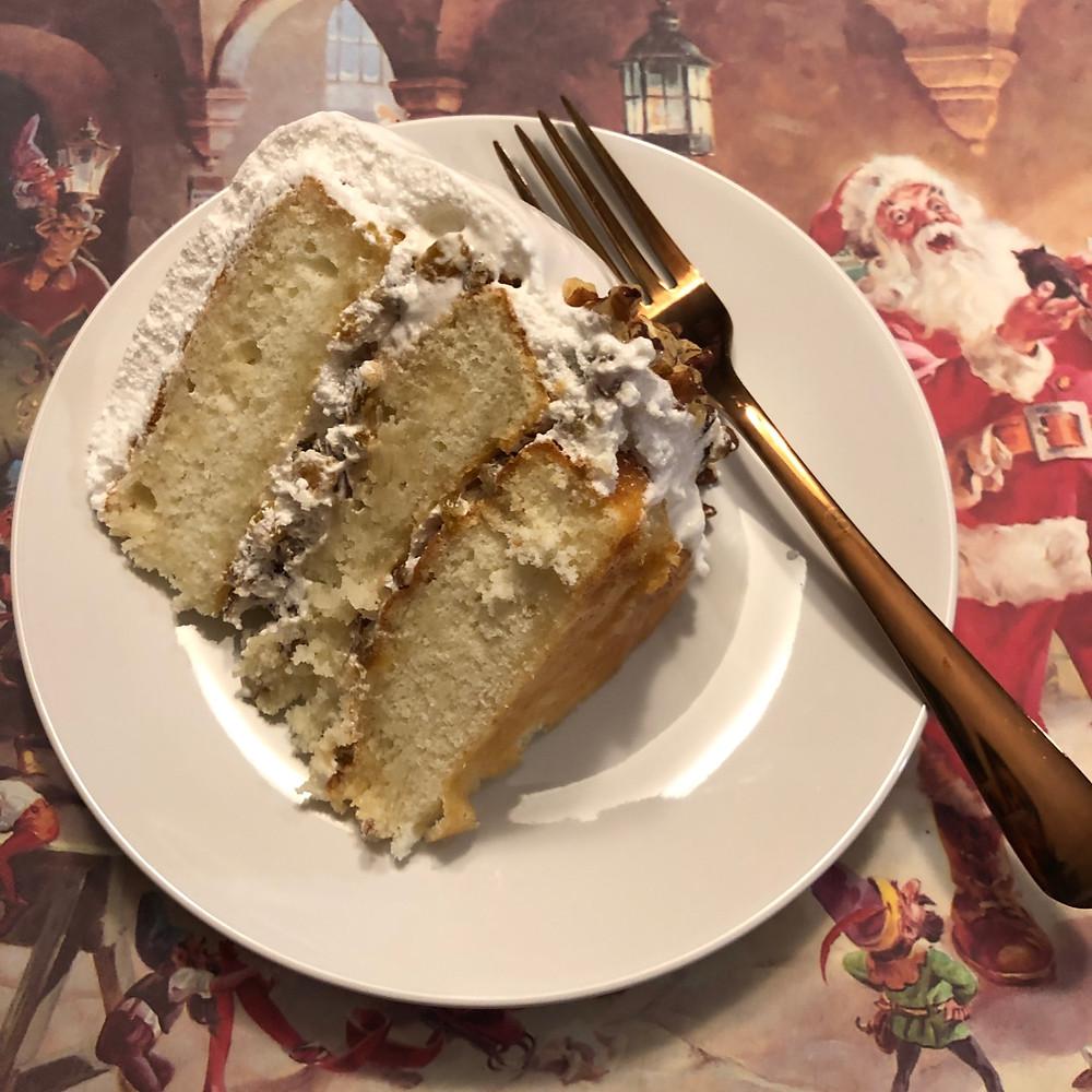 Lady Baltimore cake slice