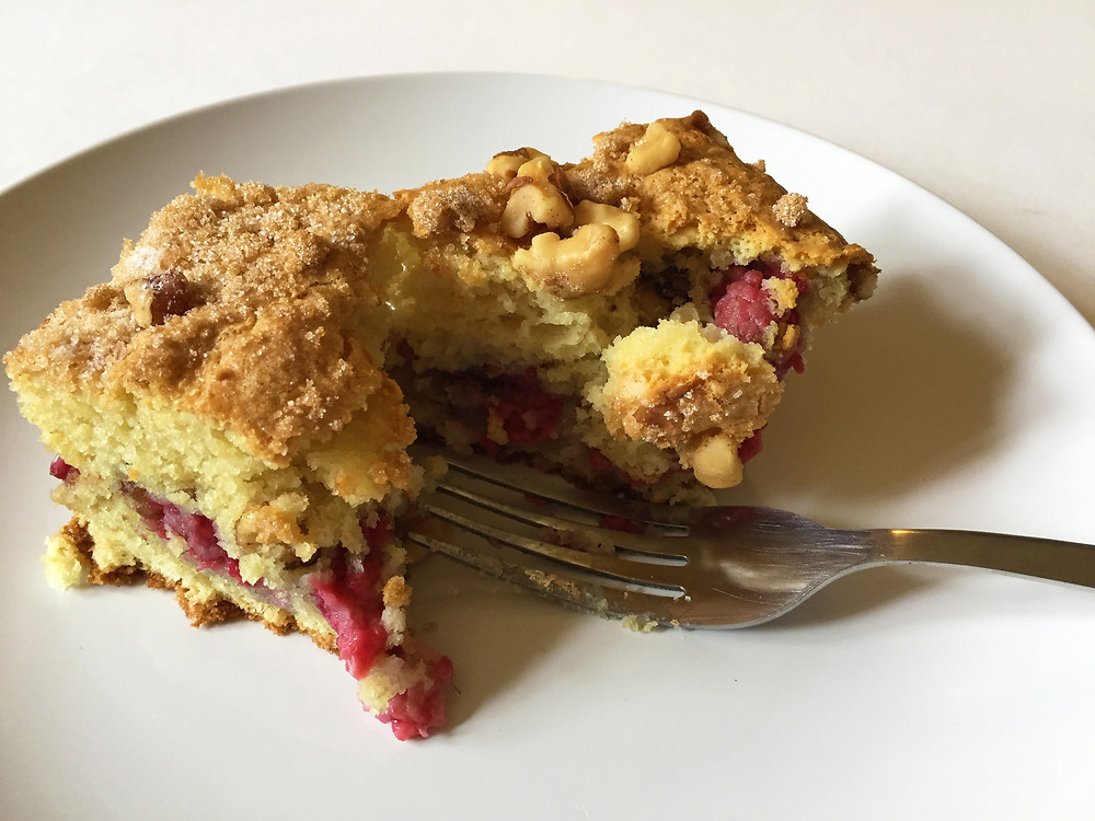 Raspberry Sour Cream Coffee Cake