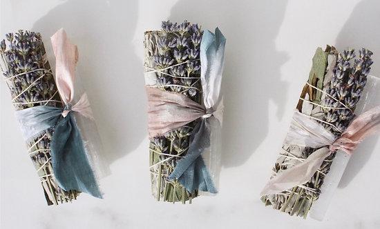 White Sage & Eucalyptus Crystal Smudge Stick