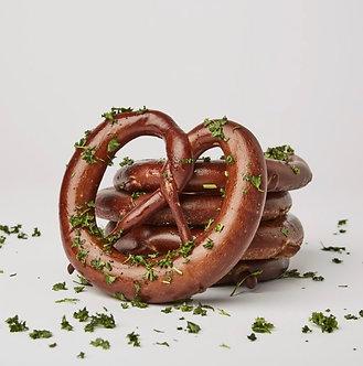 Sigmunds Garlic Parsley Hot Pretzel