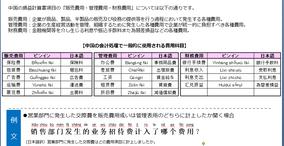 中国会計・税務講座Vol.9【費用】