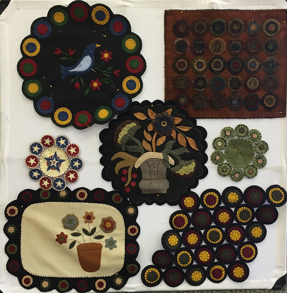 Wool Penny Quilt Rug Works By Member Kaye Whittington