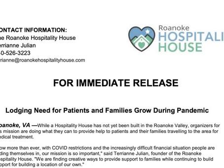 NEWS: Roanoke Hospitality House COVID Press Release