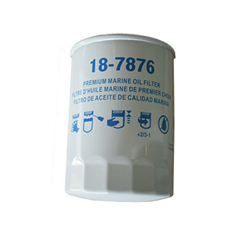 Sierra Oil Filter, MerCruiser, Yamaha, Volvo, OMC, 18-7876