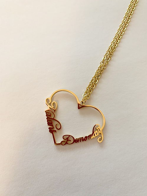 In My Heart Name Necklace