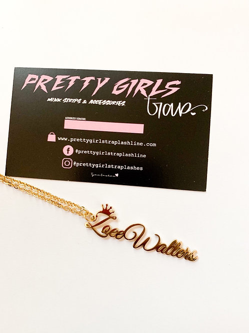 Vertical What's My Name Necklace