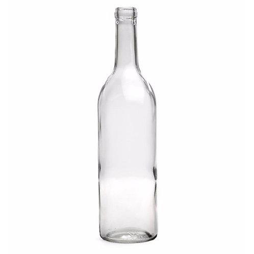 12 Clear Glass Bottles 750ml