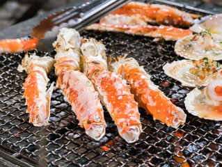 Garlic + Rosemary BBQ Crab Legs