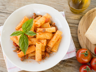 What pairs nicely with Beef Rigatoni?