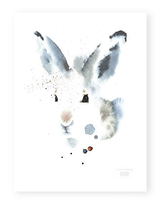 Poster - S - White Hare (A4, 21x30 cm)