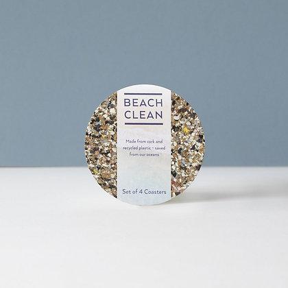 Onderzetter - Beach Clean - Round - Set van 4