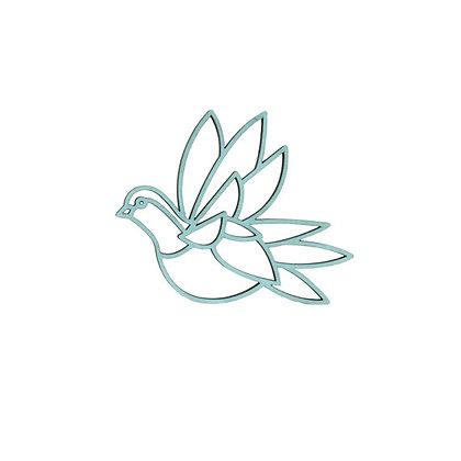 Plintdier - Vogel - Naturel, Blauw of Groen