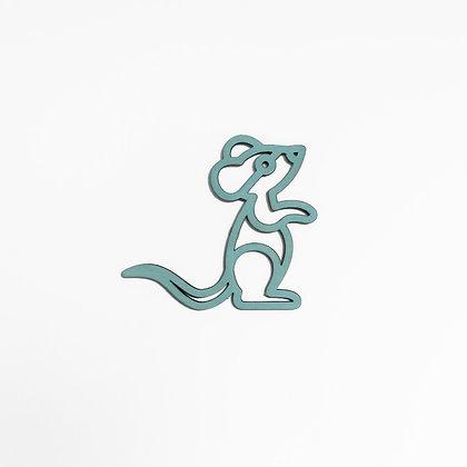 Plintdier - Muis - Naturel, Blauw of Groen